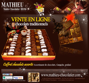 newsletter Mathieu Chocolatier